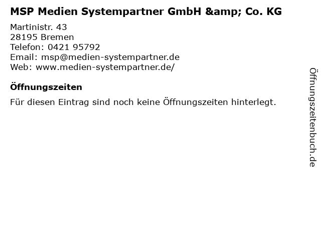 MSP Medien Systempartner GmbH & Co. KG in Bremen: Adresse und Öffnungszeiten
