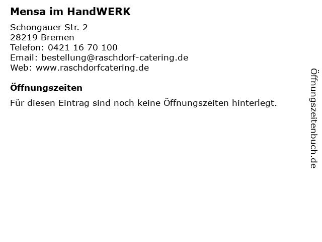 Mensa im HandWERK in Bremen: Adresse und Öffnungszeiten