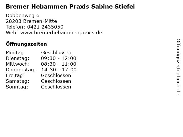 Bremer Hebammen Praxis Sabine Stiefel in Bremen-Mitte: Adresse und Öffnungszeiten
