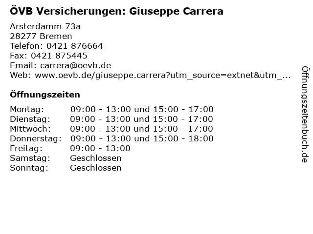 ÖVB Versicherungen: Giuseppe Carrera in Bremen: Adresse und Öffnungszeiten