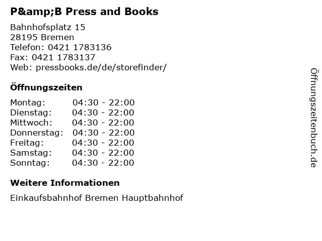 P&B Press and Books in Bremen: Adresse und Öffnungszeiten
