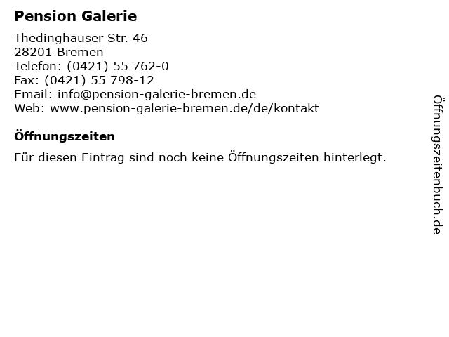 Pension Galerie in Bremen: Adresse und Öffnungszeiten