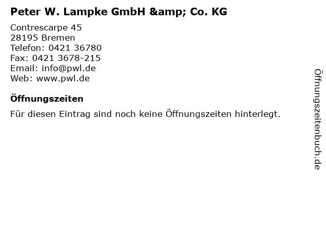 Peter W. Lampke GmbH & Co. KG in Bremen: Adresse und Öffnungszeiten