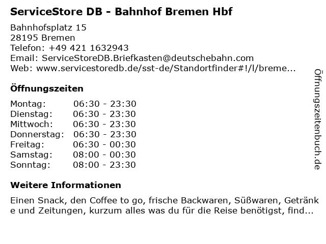 Reise Point Markt in Bremen: Adresse und Öffnungszeiten