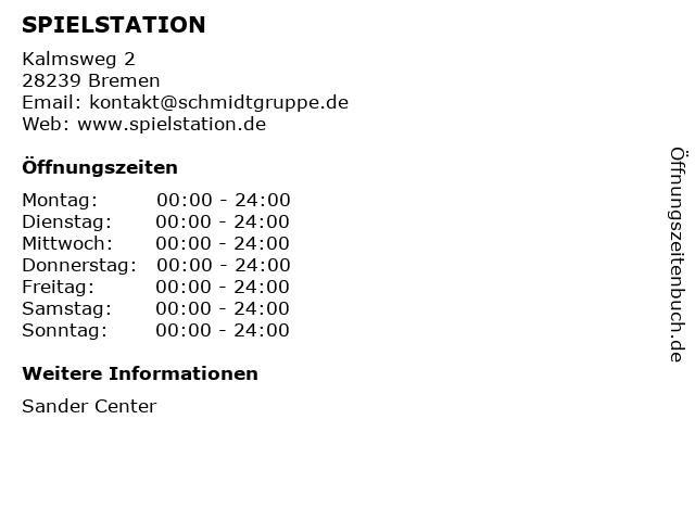SPIELSTATION in Bremen: Adresse und Öffnungszeiten