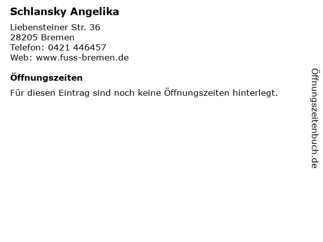 Schlansky Angelika in Bremen: Adresse und Öffnungszeiten