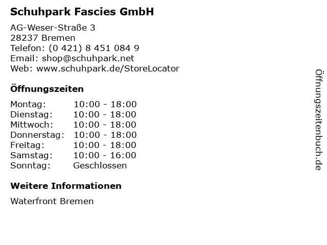 Schuhpark Fascies GmbH in Bremen: Adresse und Öffnungszeiten