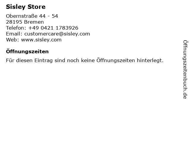 Sisley Store in Bremen: Adresse und Öffnungszeiten