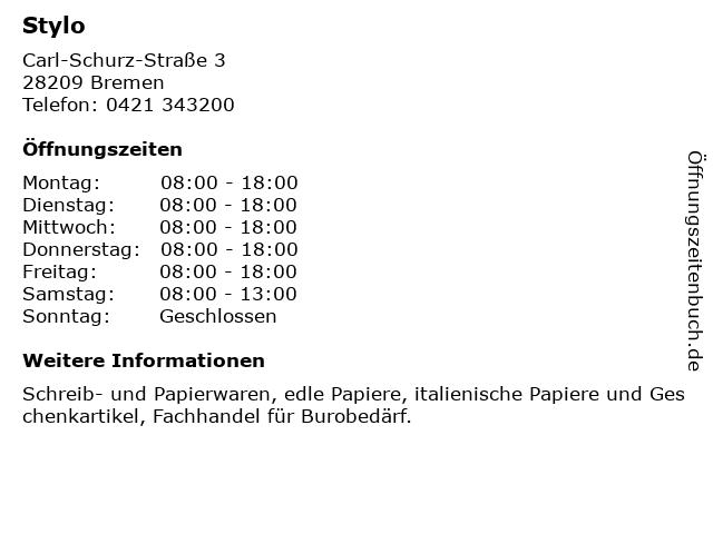 Stylo in Bremen: Adresse und Öffnungszeiten