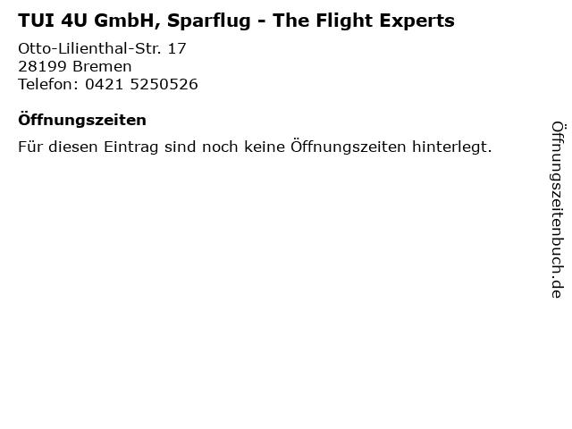 TUI 4U GmbH, Sparflug - The Flight Experts in Bremen: Adresse und Öffnungszeiten