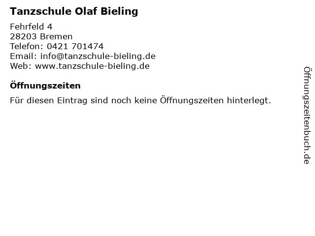 Tanzschule Olaf Bieling in Bremen: Adresse und Öffnungszeiten