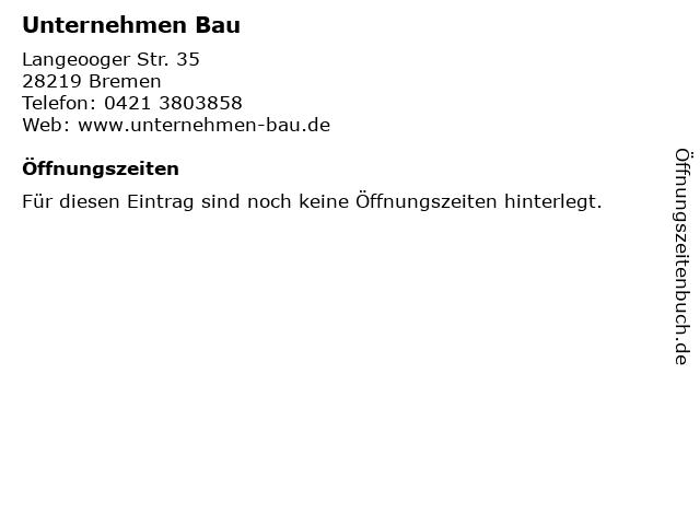 Unternehmen Bau in Bremen: Adresse und Öffnungszeiten