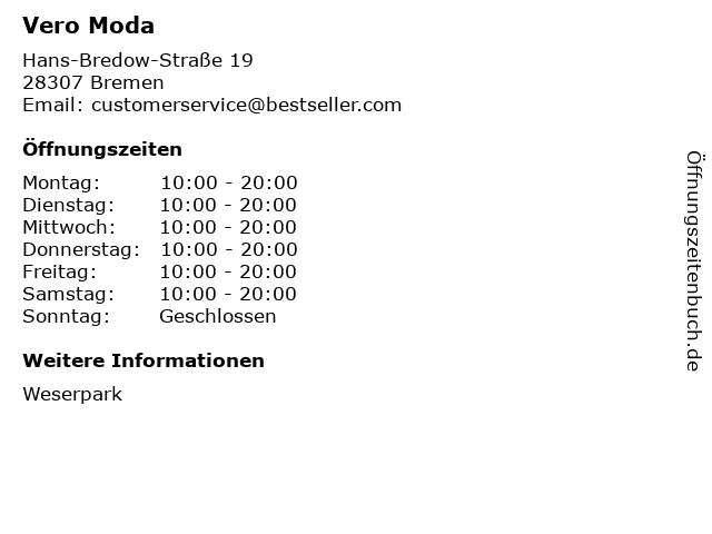 Vero Moda in Bremen: Adresse und Öffnungszeiten