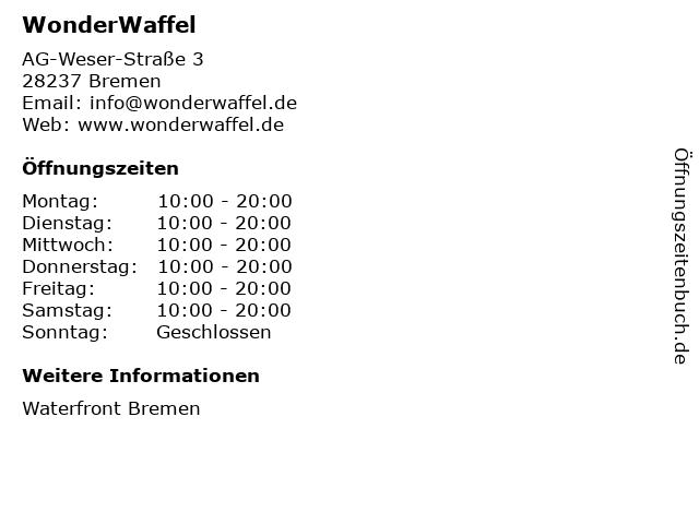 WonderWaffel in Bremen: Adresse und Öffnungszeiten