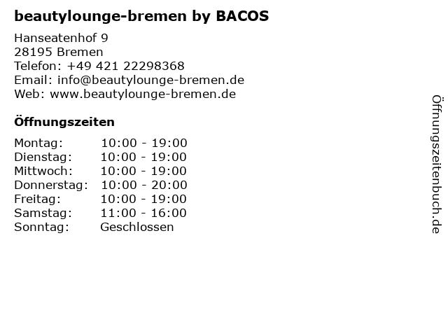 beautylounge-bremen by BACOS in Bremen: Adresse und Öffnungszeiten