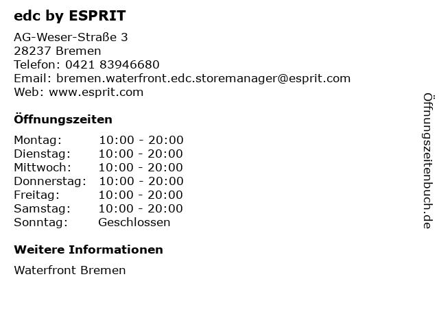 edc by ESPRIT in Bremen: Adresse und Öffnungszeiten