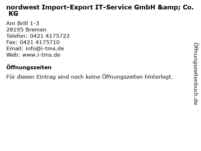 nordwest Import-Export IT-Service GmbH & Co. KG in Bremen: Adresse und Öffnungszeiten