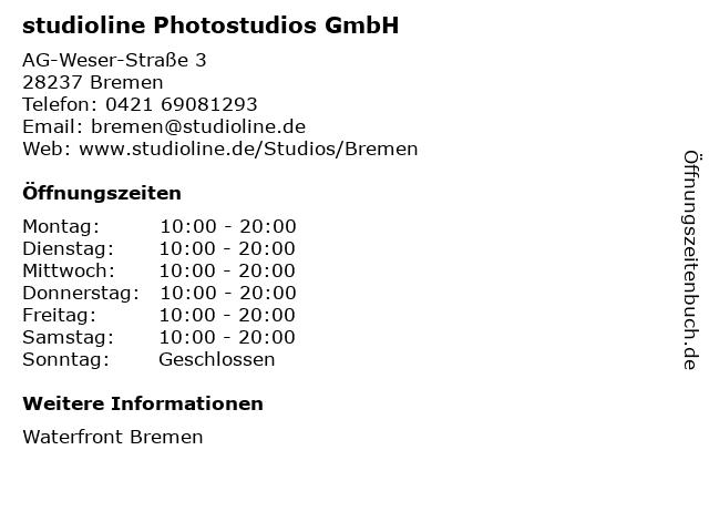 studioline Photostudios GmbH in Bremen: Adresse und Öffnungszeiten