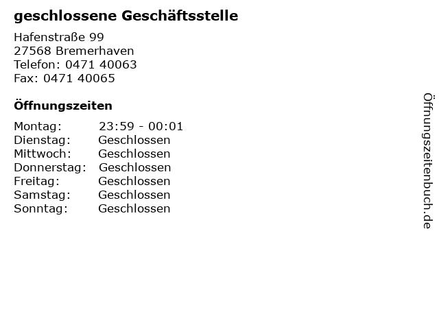 Flying Pizza in Bremerhaven: Adresse und Öffnungszeiten
