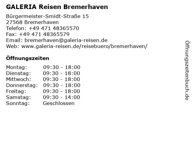 KARSTADT Reisebüro in Bremerhaven: Adresse und Öffnungszeiten