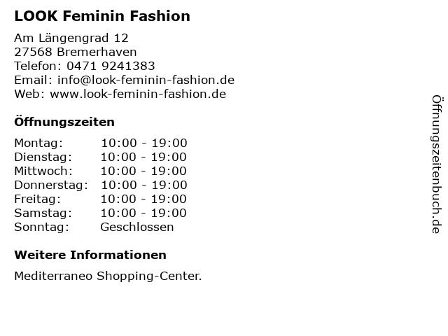 LOOK Feminin Fashion in Bremerhaven: Adresse und Öffnungszeiten