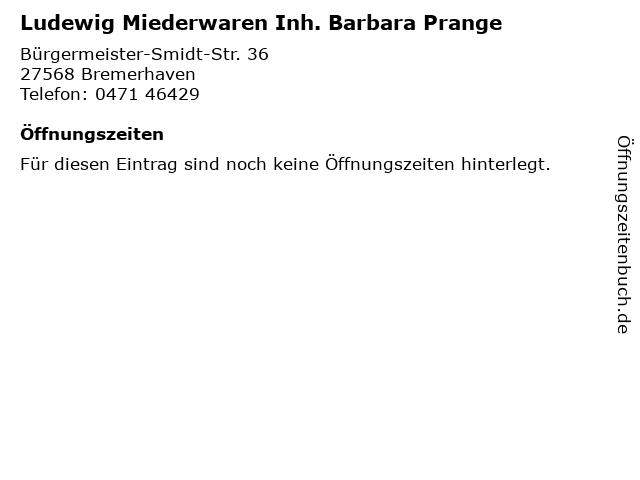 Ludewig Miederwaren Inh. Barbara Prange in Bremerhaven: Adresse und Öffnungszeiten