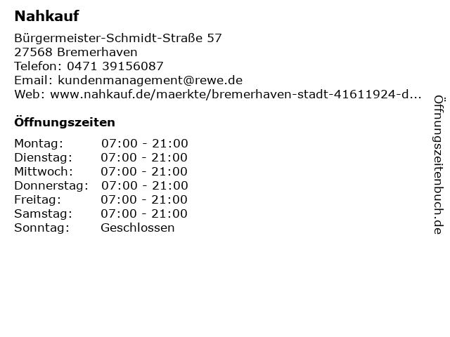 Nahkauf in Bremerhaven: Adresse und Öffnungszeiten