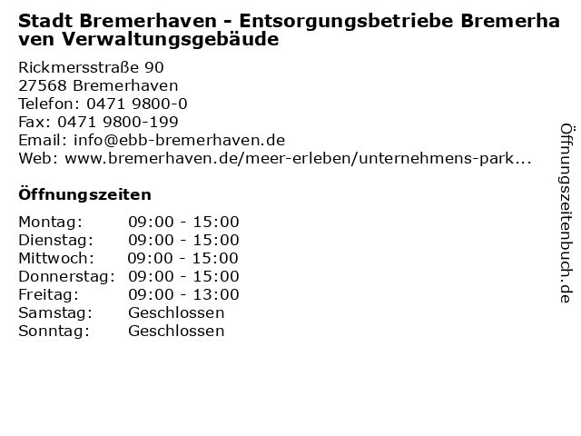 ebb bremerhaven