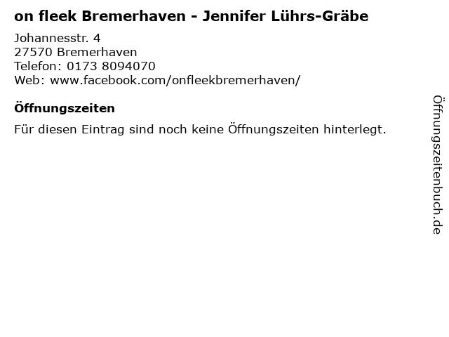 on fleek Bremerhaven - Jennifer Lührs-Gräbe in Bremerhaven: Adresse und Öffnungszeiten