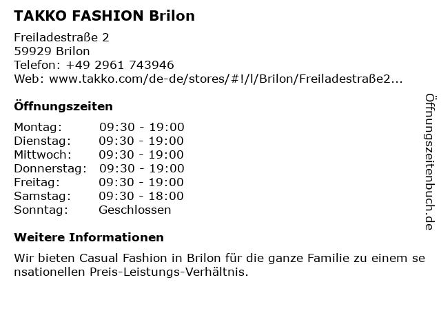 Takko Fashion in Brilon: Adresse und Öffnungszeiten