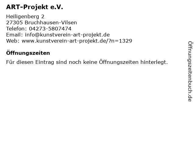 ART-Projekt e.V. in Bruchhausen-Vilsen: Adresse und Öffnungszeiten