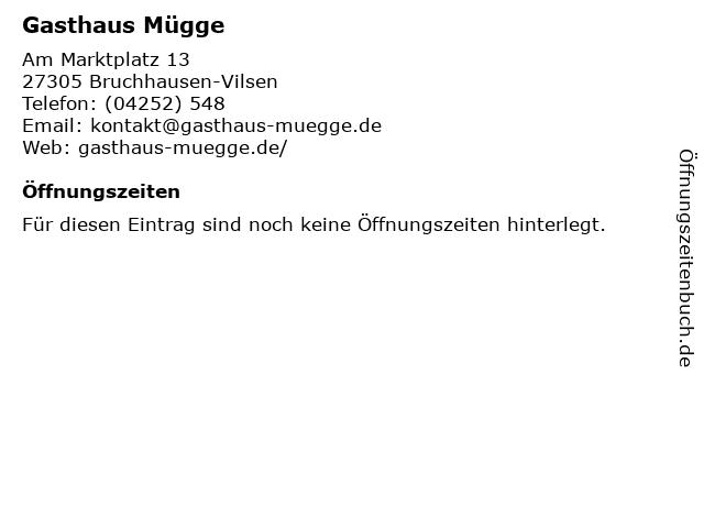 Gasthaus Mügge in Bruchhausen-Vilsen: Adresse und Öffnungszeiten