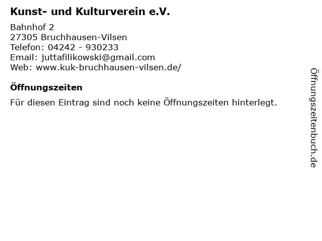 Kunst- und Kulturverein e.V. in Bruchhausen-Vilsen: Adresse und Öffnungszeiten
