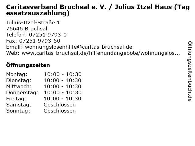 Caritasverband Bruchsal e. V. / Julius Itzel Haus (Tagessatzauszahlung) in Bruchsal: Adresse und Öffnungszeiten