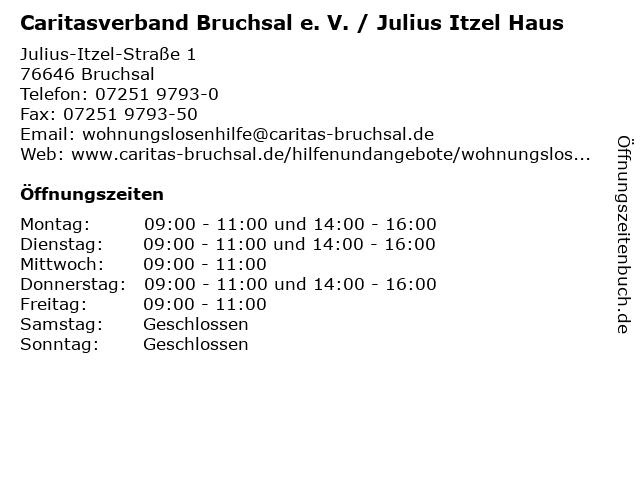 Caritasverband Bruchsal e. V. / Julius Itzel Haus in Bruchsal: Adresse und Öffnungszeiten