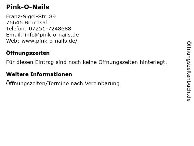Pink-O-Nails in Bruchsal: Adresse und Öffnungszeiten