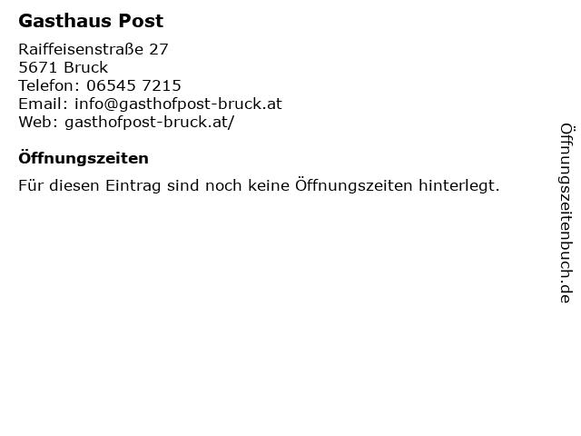 Gasthaus Post in Bruck: Adresse und Öffnungszeiten
