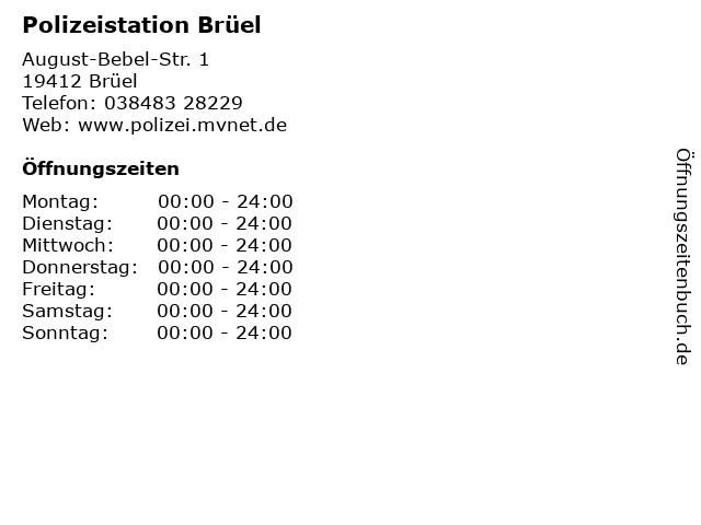 Polizeistation Brüel in Brüel: Adresse und Öffnungszeiten