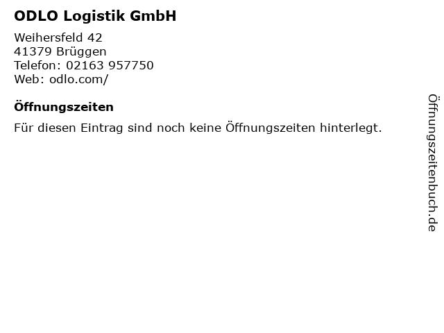 ODLO Logistik GmbH in Brüggen: Adresse und Öffnungszeiten