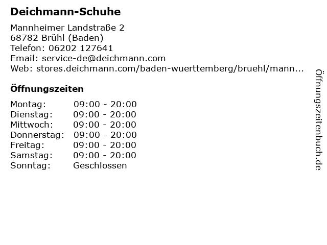 Deichmann-Schuhe GmbH & Co. KG in Brühl (Baden): Adresse und Öffnungszeiten