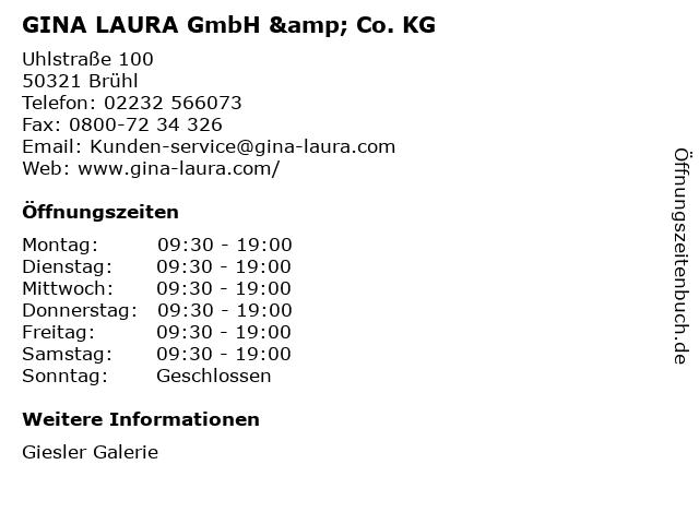 GINA LAURA GmbH & Co. KG in Brühl: Adresse und Öffnungszeiten
