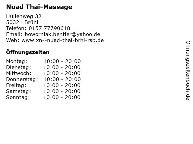 Thai massage brühl
