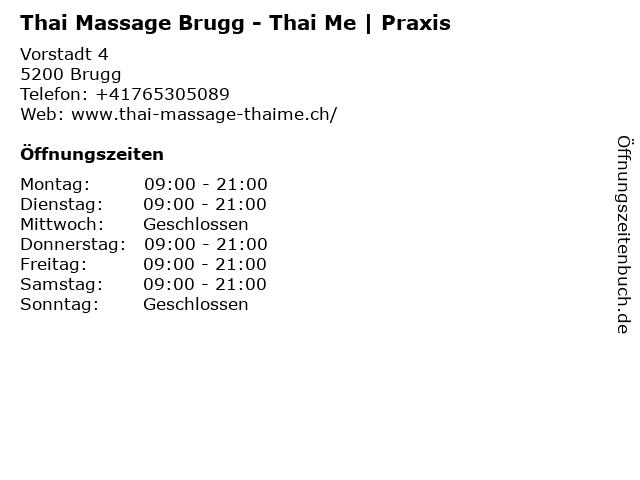 Thai Massage Brugg - Thai Me in Brugg: Adresse und Öffnungszeiten
