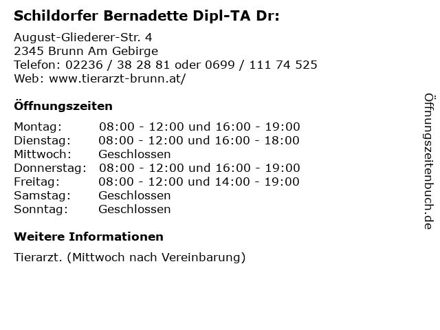 Schildorfer Bernadette Dipl-TA Dr: in Brunn Am Gebirge: Adresse und Öffnungszeiten