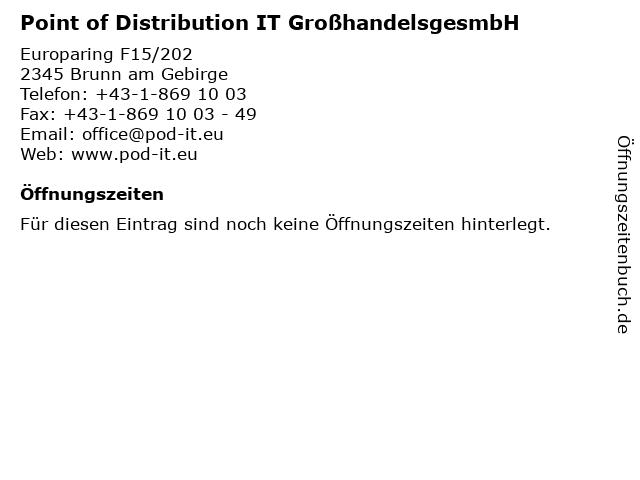 Point of Distribution IT GroßhandelsgesmbH in Brunn am Gebirge: Adresse und Öffnungszeiten