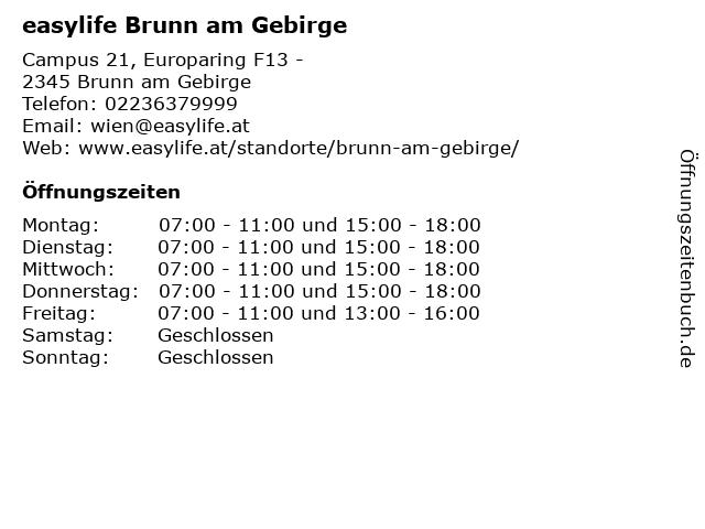 easylife Brunn am Gebirge in Brunn am Gebirge: Adresse und Öffnungszeiten