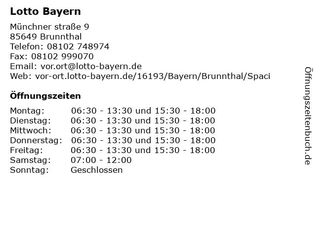 Lotto Bayern in Brunnthal: Adresse und Öffnungszeiten