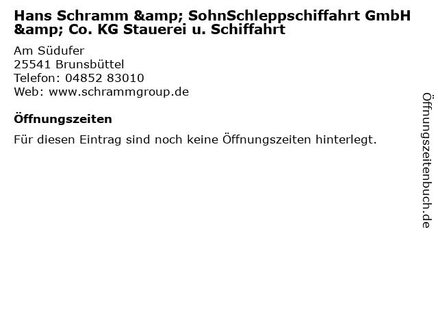 """ᐅ Öffnungszeiten """"Hans Schramm & SohnSchleppschiffahrt GmbH & Co ..."""