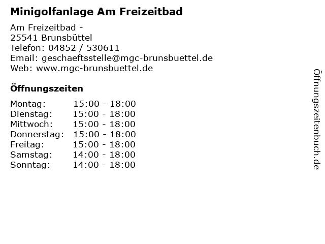 Minigolfanlage Am Freizeitbad in Brunsbüttel: Adresse und Öffnungszeiten