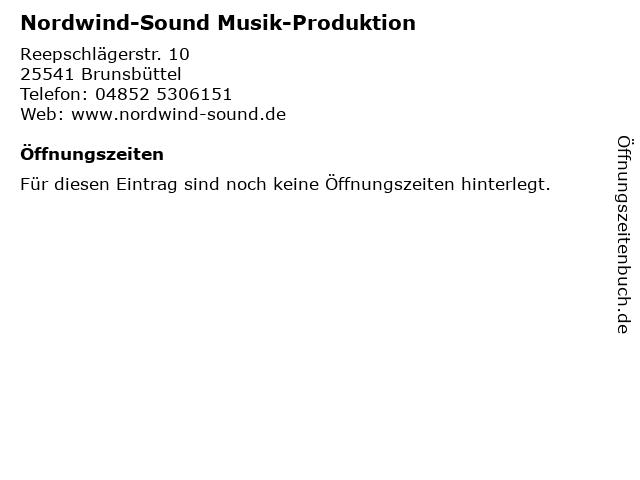 Nordwind-Sound Musik-Produktion in Brunsbüttel: Adresse und Öffnungszeiten